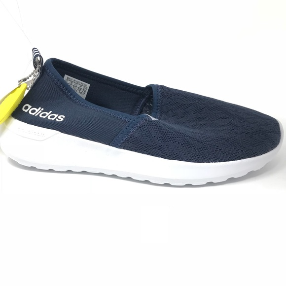bb41dbcf9 NEW Adidas Cloudfoam Lite Racer Slip On Shoes Blue